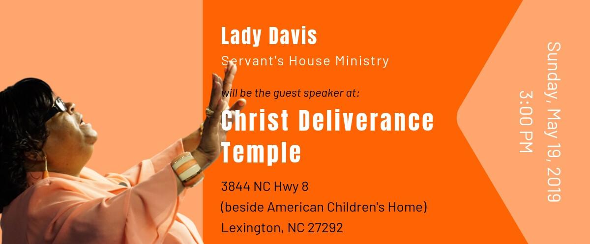 Pastor Steve Davis - Christ Deliverance Temple 03222019